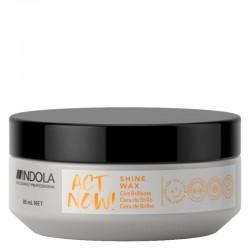 Spindesio plaukams suteikiantis vaškas Indola ActNow Shine Wax 85ml