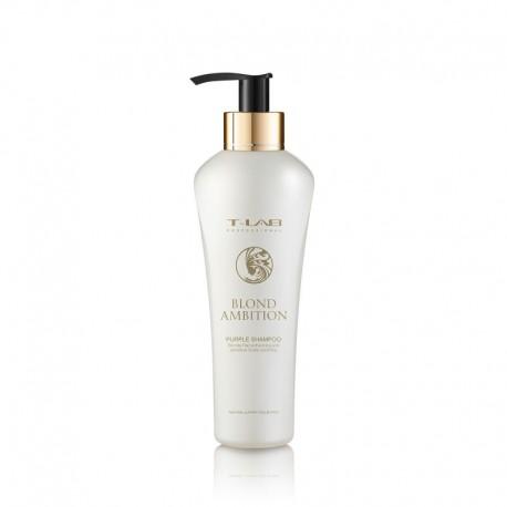 Sidabrinį atspalvį suteikiantis šampūnas T-LAB Professional Blonde Ambition Purple Shampoo