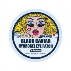 Akių pagalvėlės su juodaisiais ikrais Cosvery Black Caviar 98g 70 padelių