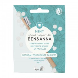 Dantų pastos tabletės be fluoridu Ben&Anna Natural Toothpaste Tablets Mint 36g