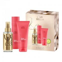 Plaukų spalvą apsaugantis ir puoselėjantis rinkinys Wella Professionals Color Brilliance and  Oil Reflection Oil
