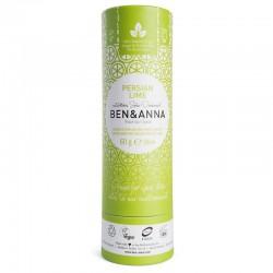 Dezodorantas popierinėje pakuotėje Ben&Anna Persian Lime Natural Soda Deodorant  60g