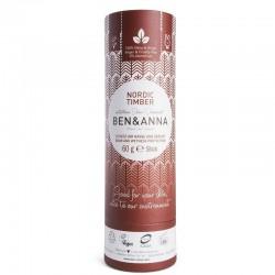 Dezodorantas popierinėje pakuotėje Ben&Anna Deodorant Papertube Nordic Timber 60g