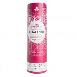 Dezodorantas popierinėje pakuotėje Ben&Anna Deodorant Papertube Pink Grapefruit 60g