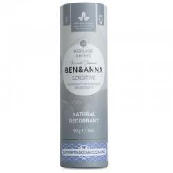 Dezodorantas popierinėje pakuotėje jautriai odai Ben&Anna Sensitive Deodorant Highland Breeze 60g