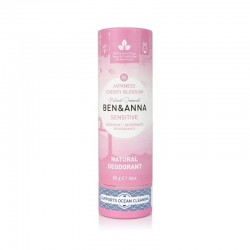 Dezodorantas popierinėje pakuotėje jautriai odai Ben&Anna Sensitive Deodorant Japanese Cherry Blossom 60g