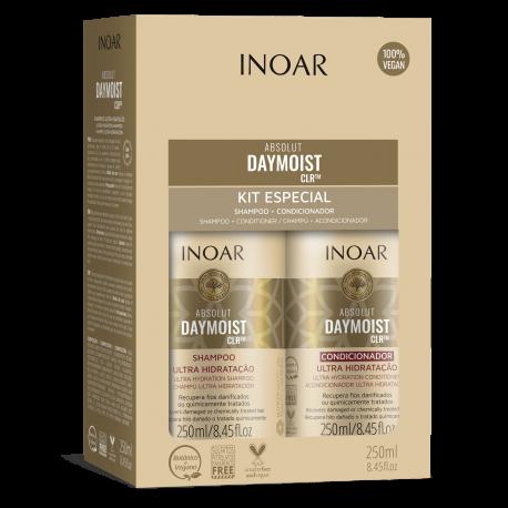 Rinkinys chemiškai pažeistiems plaukams INOAR Daymoist Duo Kit 2x250ml