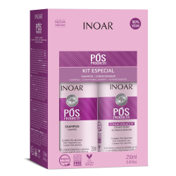 Rinkinys po tiesinimo keratinu procedūrų INOAR Pos Progress Duo Kit 2x250 ml