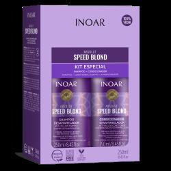 Priemonių rinkinys šviesiems plaukams INOAR Speed Blond Duo Kit 2x250ml