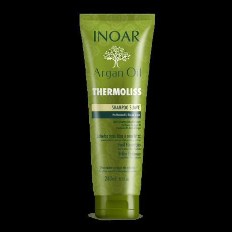 Tiesinantis ir glotninantis šampūnas INOAR Thermoliss Shampoo 240ml