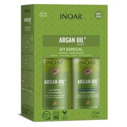 Intensyviai drėkinantis rinkinys su Argano aliejumi INOAR Argan Oil Duo Kit 2x250ml