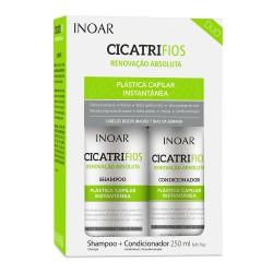 Plauko struktūrą atkuriantis priemonių rinkinys INOAR CicatriFios Duo Kit 2x250ml