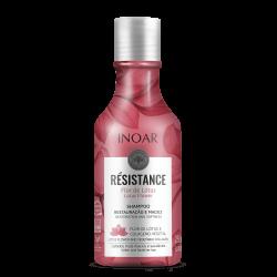 Regeneruojantis ir blizgesio suteikiantis šampūnas INOAR Resistance Flor de Lotus Shampoo 250ml