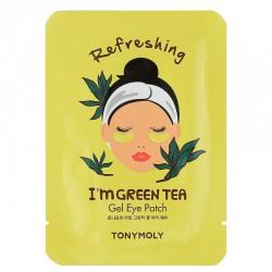 Gaivinanti paakių kaukė Tonymoly I'm Green Tea Gel Eye Patch 1vnt