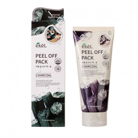 Valomoji nulupama veido kaukė su aktyvinta anglimi Ekel Peel Off Pack Charcoal 180ml