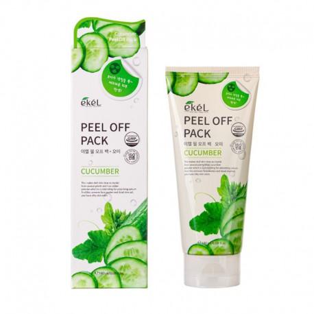 Drėkinanti nulupama veido kaukė su agurkais Ekel Peel Off Pack Cucumber 180ml