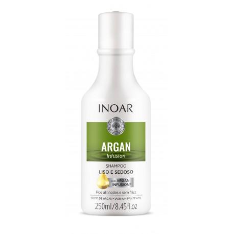 Glotnių ir švelnių plaukų šampūnas INOAR Argan Infusion Smooth and Silky Shampoo  250 ml