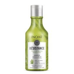 Stiprinantis ir blizgesio suteikiantis šampūnas INOAR Resistance Fibra de Bambu Shampoo 250ml