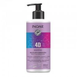 4 dimensijų šampūnas  INOAR 4D Shampoo 400 ml