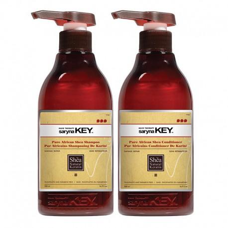 Plaukų priežiūros rinkinys pažeistiems plaukams Saryna KEY Duo Damage Repair Set 2x500ml