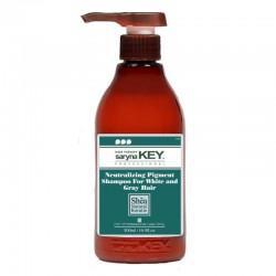 Šampūnas neutralizuojantis nepageidajamą geltonumą Saryna KEY Silver Shampoo