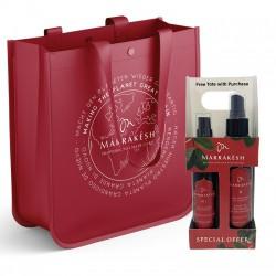 Plaukus drėkinantis ir maitinantis rinkinys su argano ir kanapių aliejais MARRAKESH Original Holiday Bag