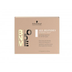 Valanti priemonė šviesintiems plaukams Schwarzkopf BlondMe All Blondes Vitamin C Shot 5x5g