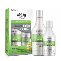 Rinkinys silpniems ir trapiems plaukams INOAR Argan Infusion Reconstruction Duo Kit 500ml+250ml