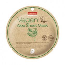 Veganiška lakštinė kaukė su alaviju Purederm Vegan Aloe Sheet Mask  23g