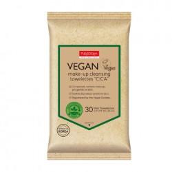 Veganiškos makiažo valymo servetėlės Purederm Vegan Make-Up Towelettes CICA 30vnt