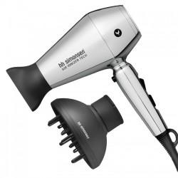 Riboto leidimo plaukų džiovinimo rinkinys su difuzorium HH Simonsen Compact Dryer Moonlight Chrome Limited Edition