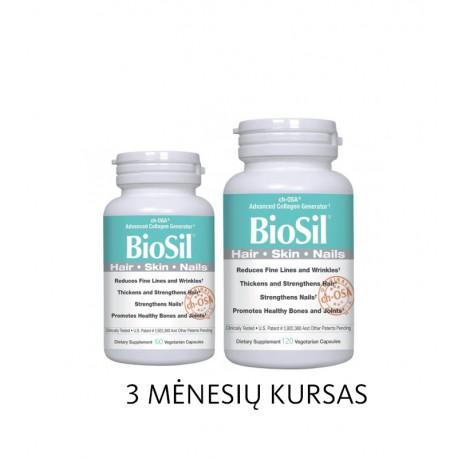 Maisto papildas plaukams, nagams BioSil Dietary Supplement 60vnt