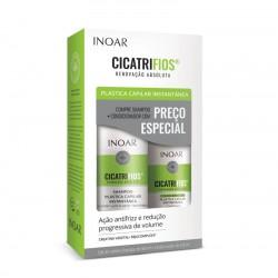 Atkuriantis plaukų struktūrą rinkinys (Šampūnas 500ml ir kondicionierius 250ml) INOAR CicatriFios Duo Kit