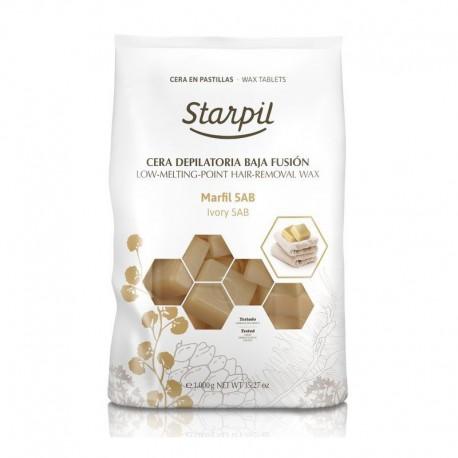 Žemoje temperatūroje besilydantis vaškas depiliacijai Starpil, dramblio kaulo 1 kg