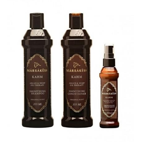 Šampūnas tiesinantis ir glotninantis plaukus Marrakesh KAHM Smoothing Shampoo Original Scent, 355 ml.