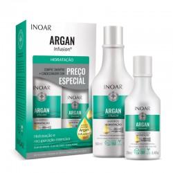 Plaukus drėkinantis šampūno ir kondicionieriaus rinkinys INOAR Argan Hydrating Duo Kit 500ml+250ml