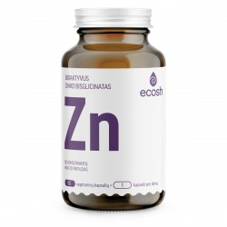 Maisto papildas bioaktyvus cinkas ECOSH Zn 90kaps.