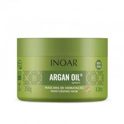 Intensyviai drėkinanti plaukų kaukė su Argano aliejumi INOAR Argan Oil Mask 250ml