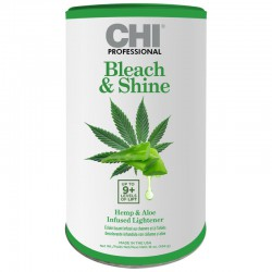 Plaukų šviesinimo milteliai be amoniako su kanapių aliejumi ir Aloe Vera CHI Bleach & Shine Hemp & Aloe Infused Lightener 454g