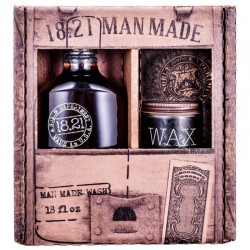 Plaukų ir kūno priežiūros priemonių rinkinys vyrams 18.21 Man Made Duo Gift Box 3in1 Sweet Tobacco