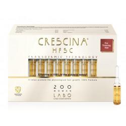 Plaukų augimą skatinančios ampulės moterims CRESCINA TRANSDERMIC RE-GROWTH HFSC 200 100% 20vnt
