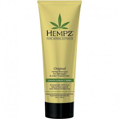 Maitinantis šampūnas pažeistiems ir dažytiems plaukams Hempz Original Herbal Shampoo for Damaged And Color Treated Hair 266ml