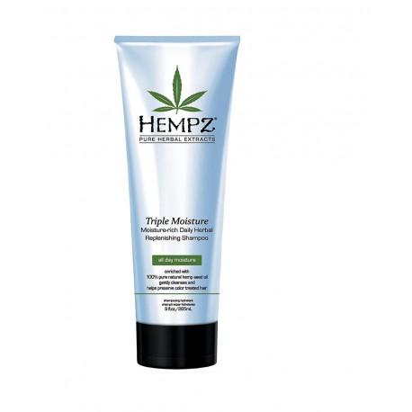 Intensyviai drėkinantis šampūnas HEMPZ Triple Moisture - Rich Herbal Replenishing Shampoo 266ml