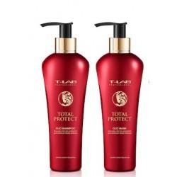 Dažytų ar chemiškai apdorotų plaukų šampūnas T-LAB Professional Total Protect Duo Shampoo 300ml
