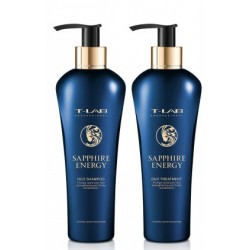 Plaukus stiprinantis ir anti-senėjimo poveikį mažinantis dovanų rinkinys T-LAB Professional Sapphire Energy Ritual