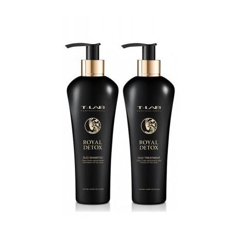 Imperatoriškam plaukų glotnumui ir absoliučiai detoksikacijai dovanų rinkinys T-LAB Professional Royal Detox Ritual
