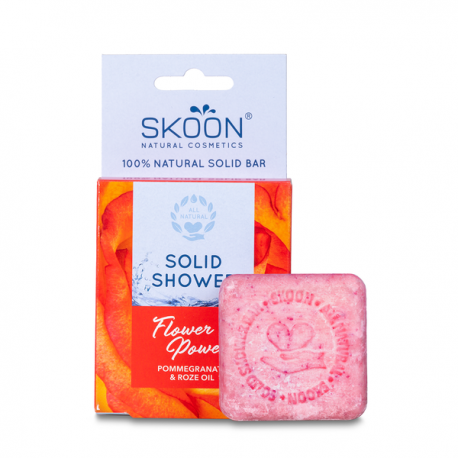 Kietasis kūno prausiklis SKOON Flower Power Solid Shower 90g