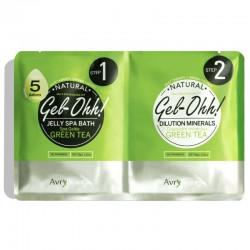 Gelinis SPA pėdoms su žaliąja arbata Gel-Ohh Jelly Spa Pedi Bath Green Tea 2X50g
