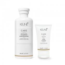 Šampūnas sausiems, porėtiems plaukams KEUNE Care Line SATIN OIL