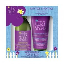 Plaukų ir kūno priežiūros priemonių rinkinys vaikams Little Green Bathtime Essentials